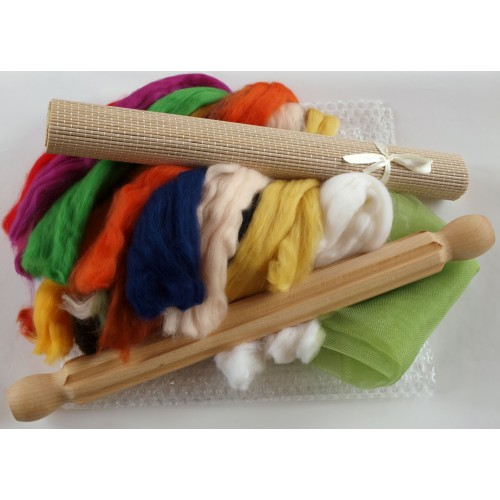 Corinas Curious Creations Wet Felting Ribbed Roller//Rolling Pin Bulb Handles