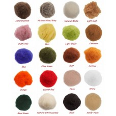 10g / .35oz Bag Of Italian Carded / Batting Wool - Pick Your Colours